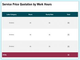 Service Price Quotation By Work Hours Category Ppt Gallery