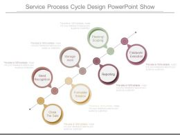 Service Process Cycle Design Powerpoint Show