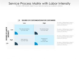 Service Process Matrix With Labor Intensity