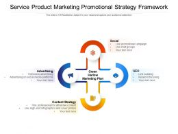 Service Product Marketing Promotional Strategy Framework