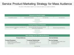 Service Product Marketing Strategy For Mass Audience