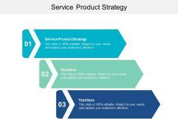 Service Product Strategy Ppt Powerpoint Presentation Gallery Slide Cpb