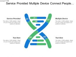Service Provided Multiple Device Connect People Workflow Technology