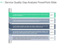 Service Quality Gap Analysis Powerpoint Slide