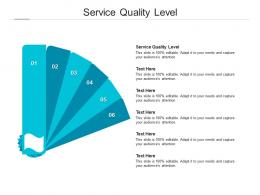 Service Quality Level Ppt Powerpoint Presentation Show Outline Cpb