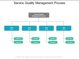 Service Quality Management Process Ppt Powerpoint Presentation Infographics Cpb