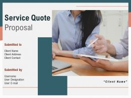 Service Quote Proposal Powerpoint Presentation Slides