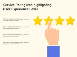 Service Rating Icon Highlighting User Experience Level