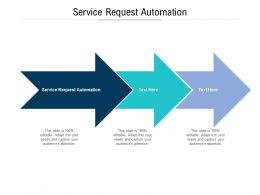 Service Request Automation Ppt Powerpoint Template Diagrams Cpb