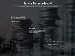 Service Revenue Model Ppt Powerpoint Presentation Styles Ideas Cpb