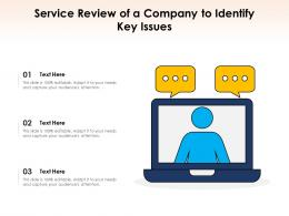 Service Review Of A Company To Identify Key Issues