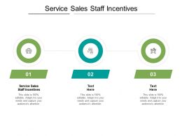 Service Sales Staff Incentives Ppt Powerpoint Presentation Portfolio Shapes Cpb