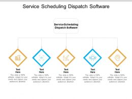 Service Scheduling Dispatch Software Ppt Powerpoint Presentation Icon Ideas Cpb