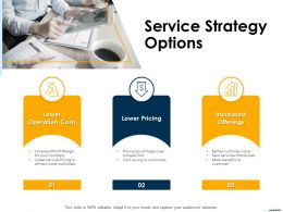 Service Strategy Options Ppt Powerpoint Presentation Infographics Model
