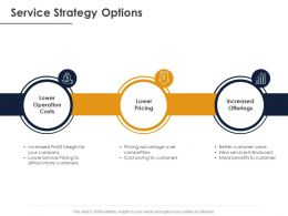 Service Strategy Options Ppt Powerpoint Presentation Slides Microsoft
