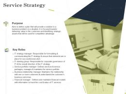 Service Strategy Ppt Powerpoint Presentation Slides Slideshow