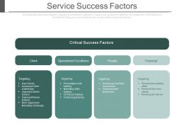 Service Success Factors Ppt Slides