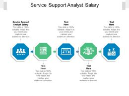 Service Support Analyst Salary Ppt Powerpoint Presentation Portfolio Objects Cpb