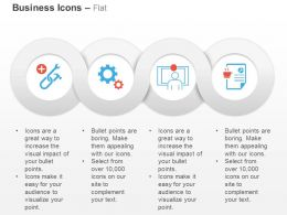 Service Tools Gears Monitoring Data Record Ppt Icons Graphics