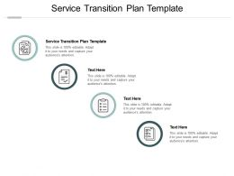 Service Transition Plan Template Ppt Powerpoint Presentation Infographics Mockup Cpb