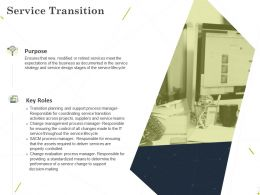 Service Transition Ppt Powerpoint Presentation Infographic Template Templates