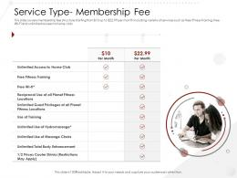 Service Type Membership Fee Market Entry Strategy Gym Health Fitness Clubs Industry Ppt Template