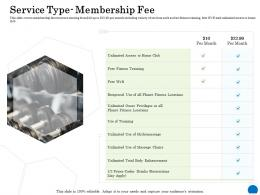 Service Type Membership Fee Ppt Powerpoint Presentation Gallery Inspiration