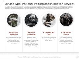Service Type Personal Training And Instruction Services Ppt Background