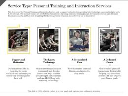 Service Type Personal Training And Instruction Services Technology Ppt Powerpoint Presentation Layouts Designs