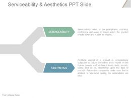 Serviceability And Aesthetics Ppt Slide