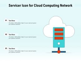 Servicer Icon For Cloud Computing Network
