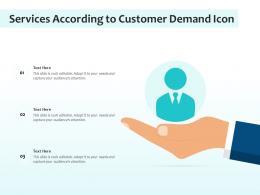Services According To Customer Demand Icon