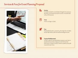 Services And Fees For Event Planning Proposal Ppt Powerpoint Presentation Visual