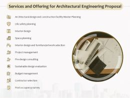 Services And Offering For Architectural Engineering Proposal Ppt Icon