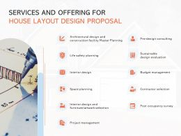 Services And Offering For House Layout Design Proposal Ppt Layouts Styles