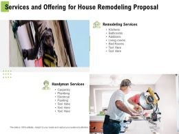 Services And Offering For House Remodeling Proposal Ppt Powerpoint Presentation Infographic