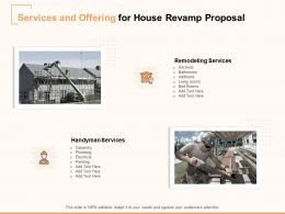Services And Offering For House Revamp Proposal Ppt Powerpoint Presentation Icon Good