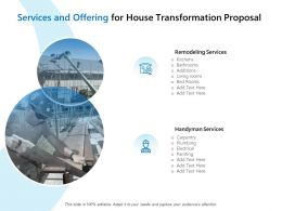 Services And Offering For House Transformation Proposal Ppt File Inspiration