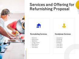 Services And Offering For Refurnishing Proposal Ppt Powerpoint Presentation