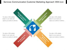 Services Communication Customer Marketing Approach With Icon