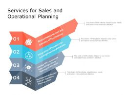 Services For Sales And Operational Planning