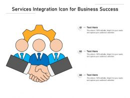 Services Integration Icon For Business Success