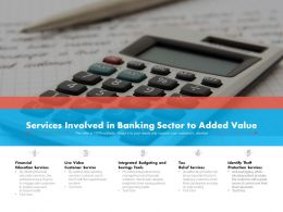 Services Involved In Banking Sector To Added Value