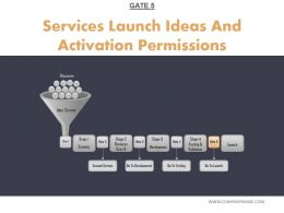 Services Launch Ideas And Activation Permissions Powerpoint Presentation Examples