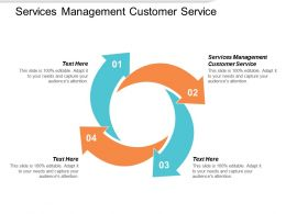 Services Management Customer Service Ppt Powerpoint Presentation Ideas Guide Cpb