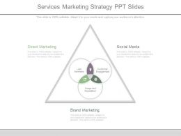 Services Marketing Strategy Ppt Slides
