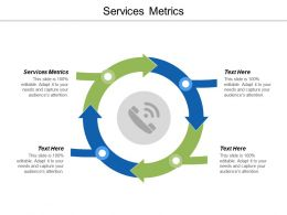 Services Metrics Ppt Powerpoint Presentation Visual Aids Background Images Cpb
