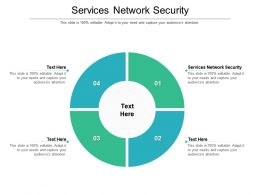 Services Network Security Ppt Powerpoint Presentation Slides Samples Cpb