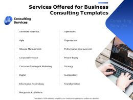Services Offered For Business Consulting Templates Ppt Powerpoint Presentation Pictures
