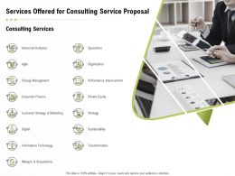Services Offered For Consulting Service Proposal Ppt Powerpoint Presentation Slides Microsoft